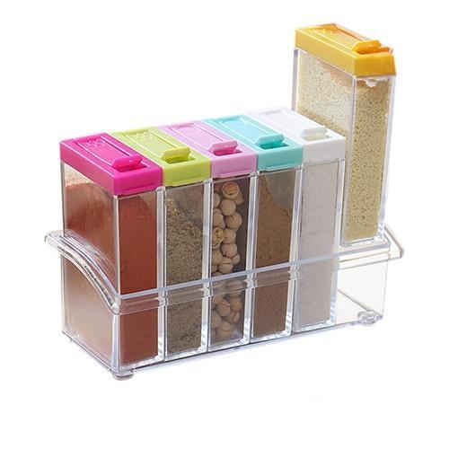 Seasoning & Spices Storage Containers-Storage Jars Glass-Estilo Living
