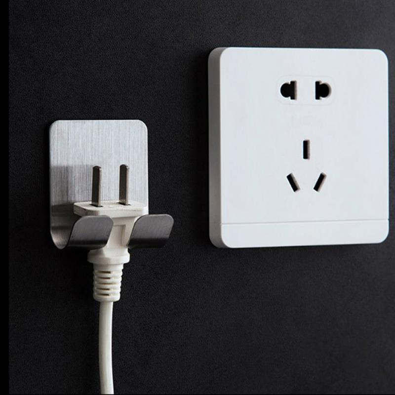 Self-Adhesive Power Plug Hooks-Wall Hooks Decoratives Collection-Estilo Living