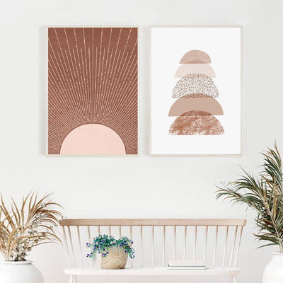 Terracotta Sunset Print Wall Art-Wall Art for Living Room-Estilo Living