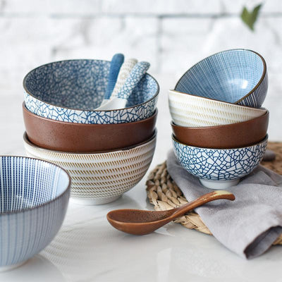 Traditional Japanese Ceramic Dinnerware Set-Kitchen-Estilo Living-Select-Select-Estilo Living