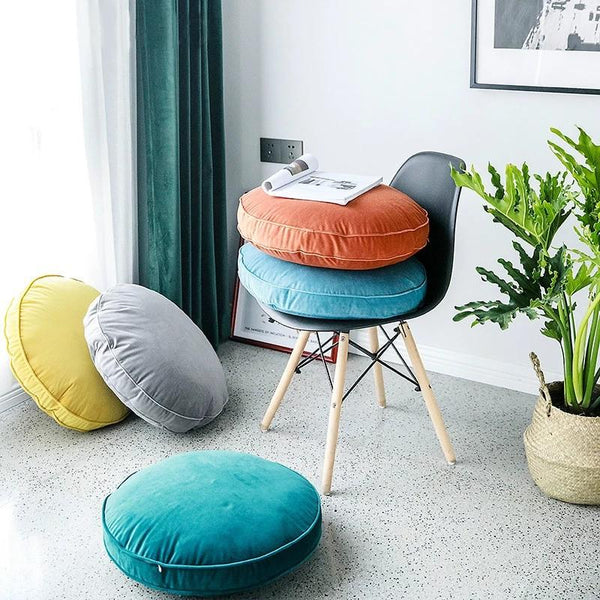 Velvet Luxury Round Pillow Cushions Collection-Cushion Cover for Couch Collection-Estilo Living