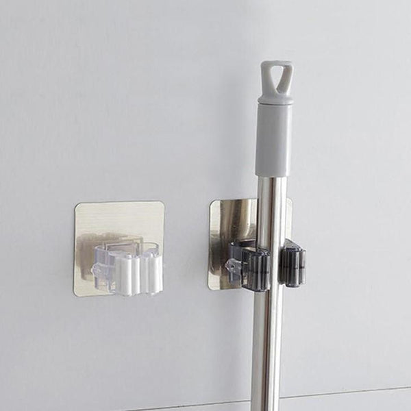 Wall-Mounted Mop and Broom Storage Brackets-Storage-Estilo Living-Select-Estilo Living