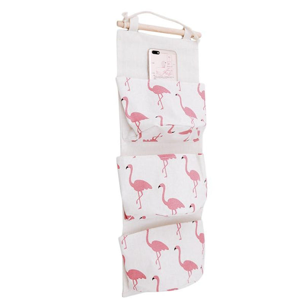 Waterproof Hanging Organizer Bags-Storage-Estilo Living-White Flamingos (57cm x 20cm)-Estilo Living