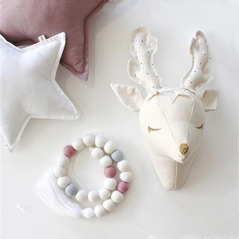 Woodlands Fairytale Plush Deer Nursery Wall Mount-Children Toys Collection-Estilo Living