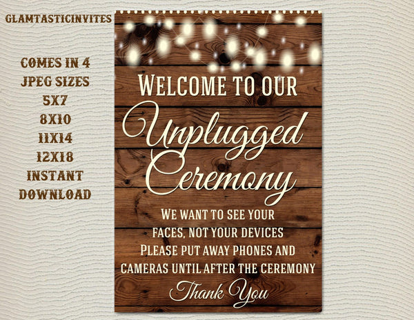 graphic about Wedding Sign Printable referred to as Printable Marriage Signal, Unplugged Marriage Indicator, Rustic Wedding day Signal, Printable Indication, Wedding ceremony Indication, Rustic Marriage ceremony, Wooden Signal, Electronic Indication