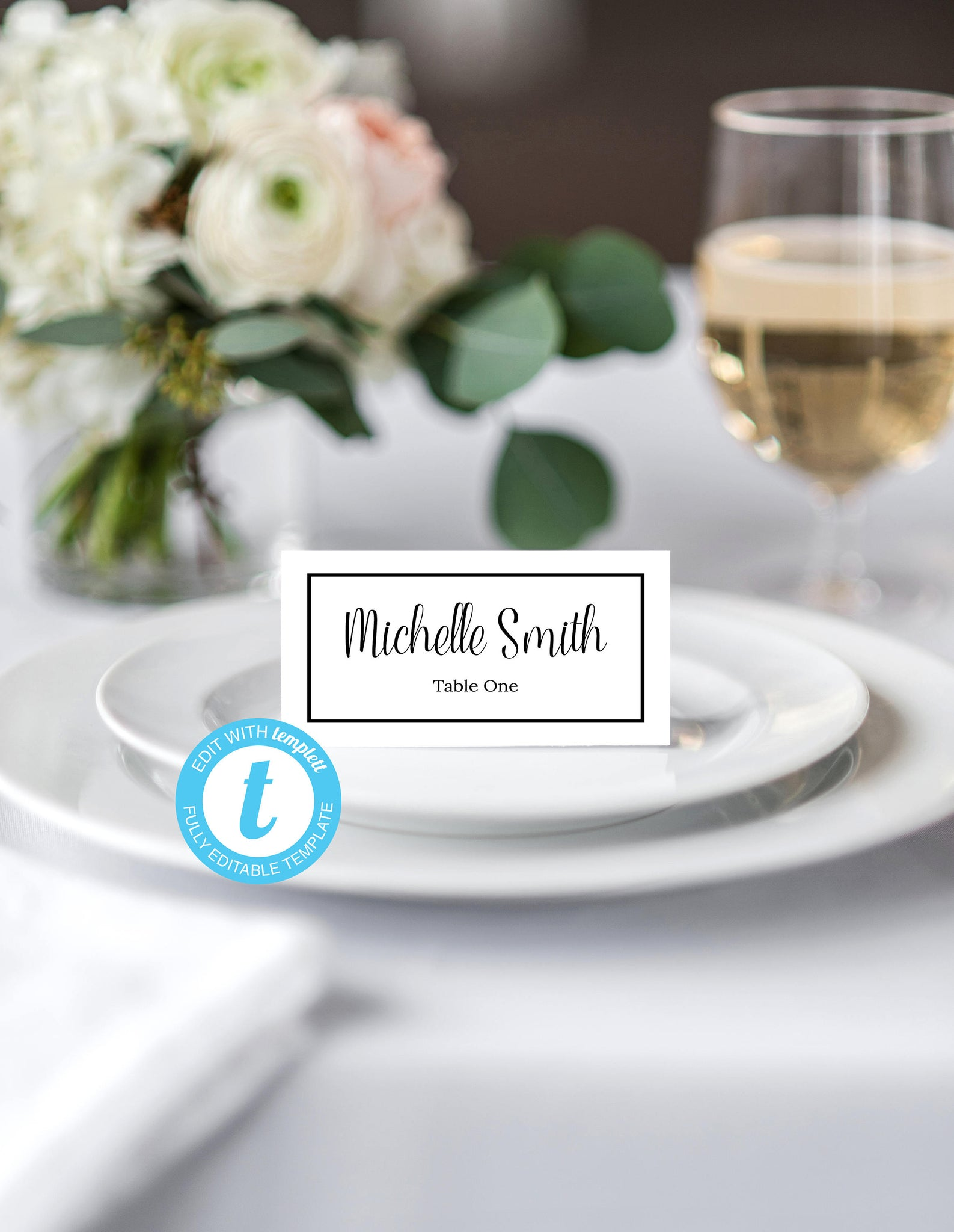 Place Card Template Food Tent Wedding Cards