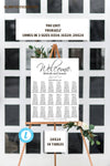 Wedding Seating Chart Template, Editable Seating Chart, Formal Wedding Seating Chart, Template, Wedding Template, Instant Download, Seating