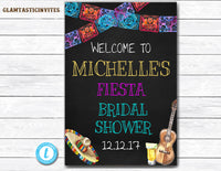 Fiesta Bridal Shower Sign, Fiesta Welcome Sign, Welcome Sign, You Edit, Fiesta Template, Bridal Shower Template, Fiesta Poster Sign, Fiesta