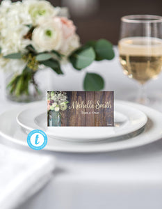 Rustic Place Card Template, Food Tent Template, Wedding Place Cards Template, Wedding Template, Rustic Template, Wood Place Card, Template