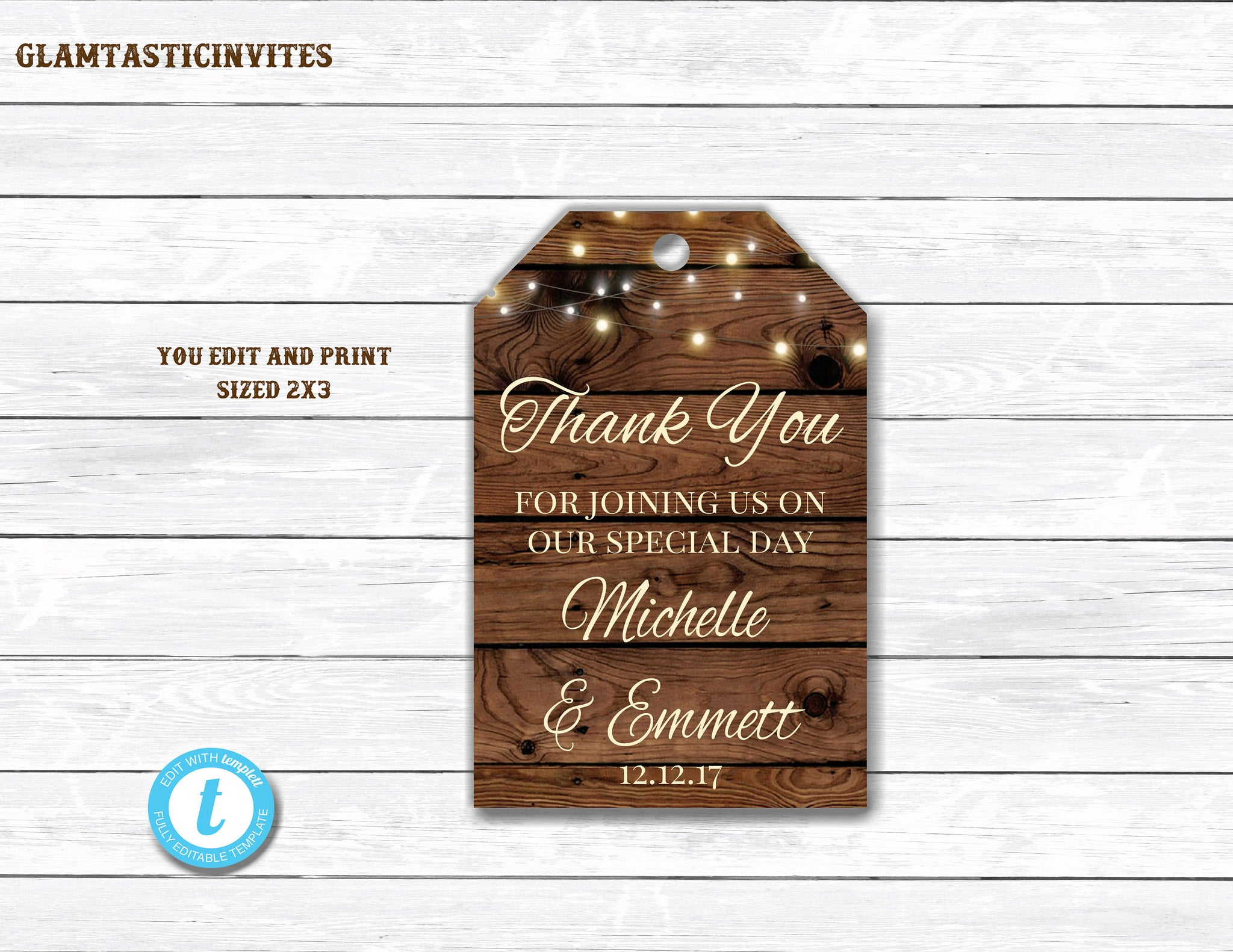 Wedding Favor Bag Template, Rustic Wedding Favor, Template, Rustic Gift Tags, Rustic Gift Tag Template, Favor Tags, Tag Template, DIY
