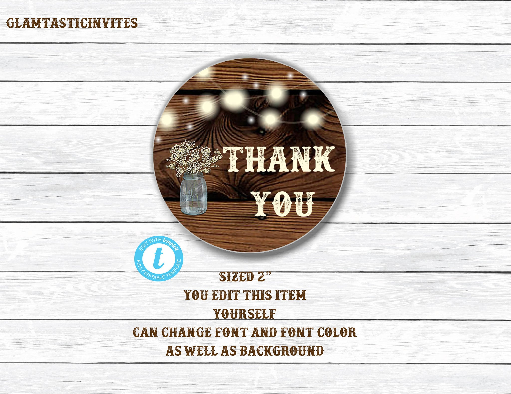 Rustic Thank you Tags, Rustic Template, You edit, Template, Wedding Thank you Favor tags, Thank you Stickers, Shower Thank You Tag, Editable