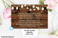 Unwrapped Gift Template, Rustic Baby Shower, Rustic Tag, Baby Shower Gift Tag, No Wrap Baby Shower gift label, No Wrap Label, Template, DIY