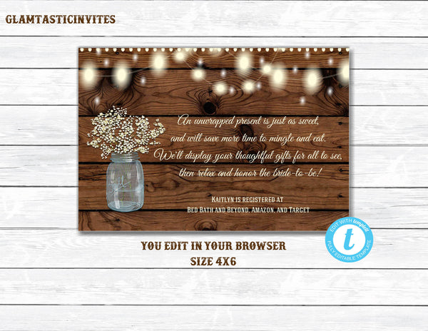 Unwrapped Gift, Rustic Bridal Shower, Rustic Tag, Bridal Shower Gift Tag, No Wrap Bridal Shower gift label, No Wrap Label, Rustic Gift Label