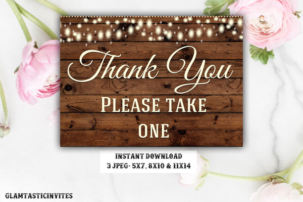 Rustic Favors Sign, Baby Shower Favors Sign, Wedding Favors Sign, Bridal Shower Favors Sign, Instant Download, Digital, Rustic Sign, DIY