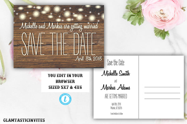 picture regarding Printable Save the Date Templates known as Rustic Conserve-The-Dates, Printable Rustic Conserve the Day Postcard, Preserve the Day, Rustic Marriage ceremony, Printable Conserve the Day, TEMPLATE, Your self EDIT