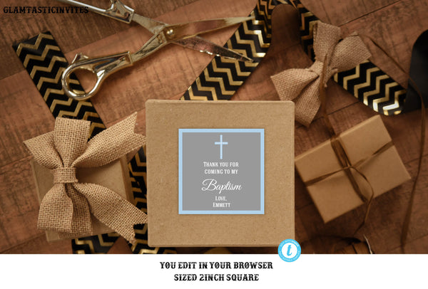 Baptism Thank You Tags, Christening Thank You Tags, Boy Baptism Tag, You Edit, Template Thank You Tags, Baptism Thank You Template,Favor DIY