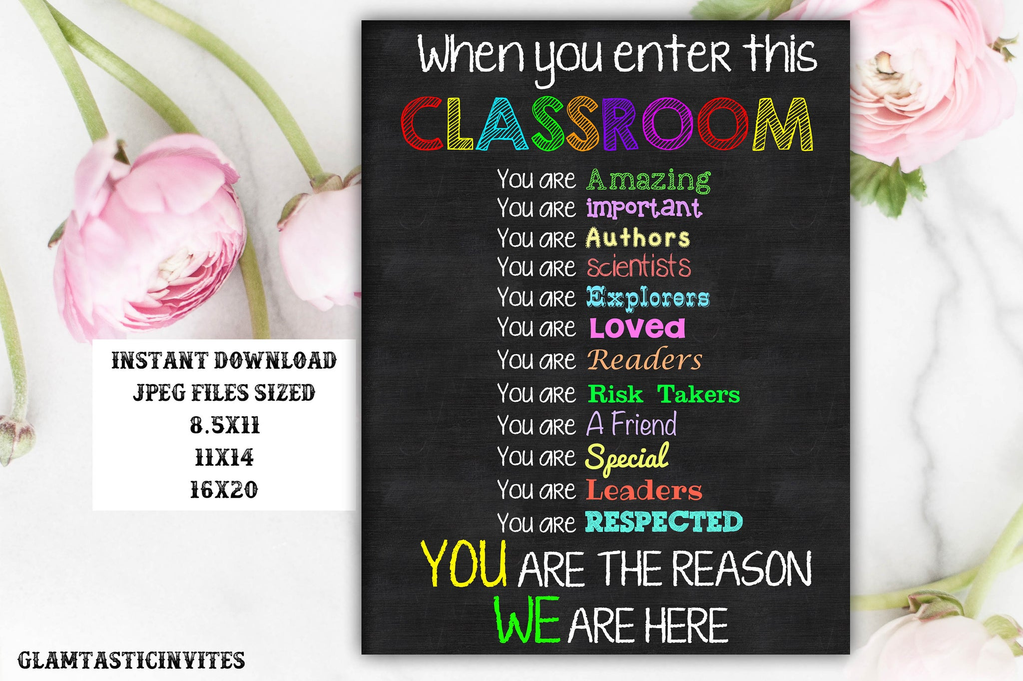 Classroom Rules, Rules for the Class, Classroom Decor, Gift for Teacher, First Day of School,Teacher classroom decor,Teacher gifts, Rules