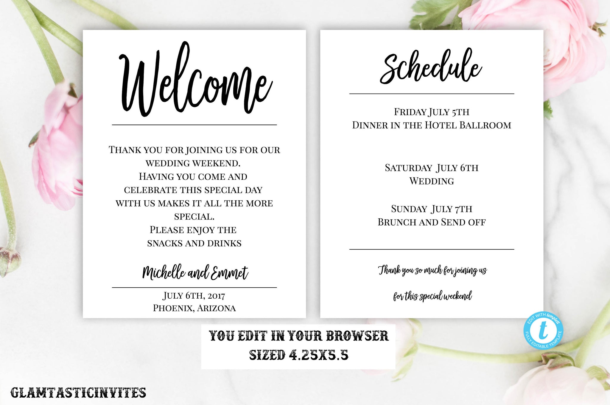 Wedding Welcome Note Template Welcome Note Wedding Template You