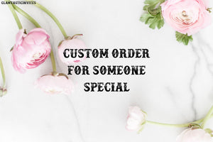 Custom Order for Alexis Willmett