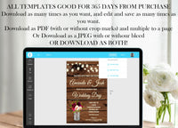 He Said She Said Bridal Shower Game Template, Rustic He Said She Said Bridal Shower Game, Bridal Shower Games, Rustic Bridal Shower,Editable