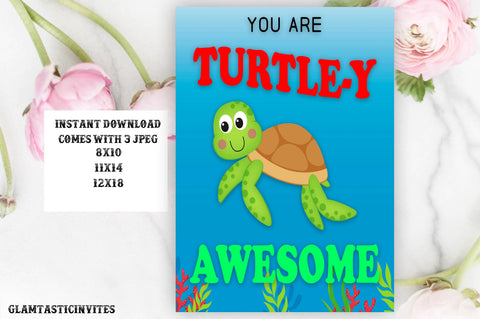 You Are Turtle-y Awesome Classroom Sign, Classroom Decor, Preschool, Classroom Rules, Teacher Gift, Classroom Poster Sign Decor, Inspire