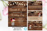 Wedding Invitation Template Suite, Rustic Wedding Invitation Printable, Country Wedding Invitation, Digital file, You Edit, Instant Download