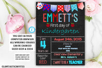 First Day of School Sign, Back to School, Printable Chalkboard Poster, First day of Kindergarten Sign, Any Age, Any Grade, Printable Sign