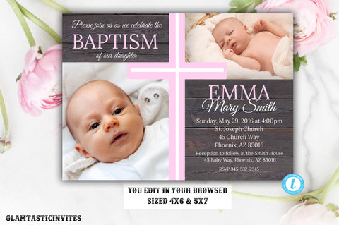 Products Tagged Rustic Baptism Glamtasticinvites