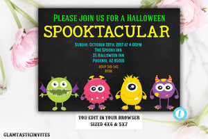 Halloween invitation, Halloween invites, Halloween party, adult halloween invitation, Editable Template, Kids Halloween Party, YOU EDIT