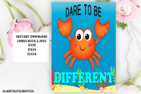 Dare to be Different Classroom Sign, Classroom Decor, Preschool, Classroom Rules, Teacher Gift, Classroom Poster Sign Decor, Inspirational