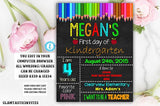 Editable First day of Kindergarten Sign Instant Download Editable Printable You Edit Chalkboard Sign For Any Grade or Age, Template, First