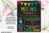 YOU EDIT First day of School Sign Kindergarten First Grade Second Grade Third Grade Boy Girl Editable Printable Chalkboard Template DIY Sign