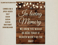 picture relating to Wedding Sign Printable named Printable Marriage Indicator, Within just loving Memory Signal, Rustic Wedding day Indicator, Printable Indication, Marriage ceremony Indication, Rustic Wedding ceremony, Picket Indicator, Electronic Indication