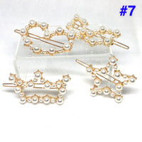 Diamonds & Pearl hair clips