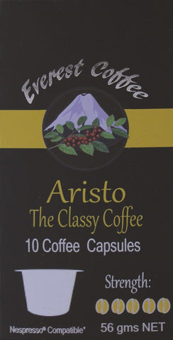100x Aristo Coffee Capsules (Nespresso® Compatible)