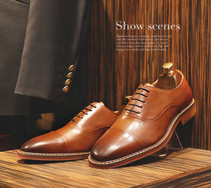 Men's Genuine Leather Business Dress Shoes