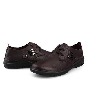 Tenis High Quality Plus Size Men Genuine Leather Shoes