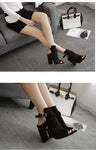 Gladiator High Heels Buckle Strap Shoes