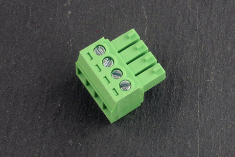 3.5mm Pluggable terminal block, 4 pin, Female