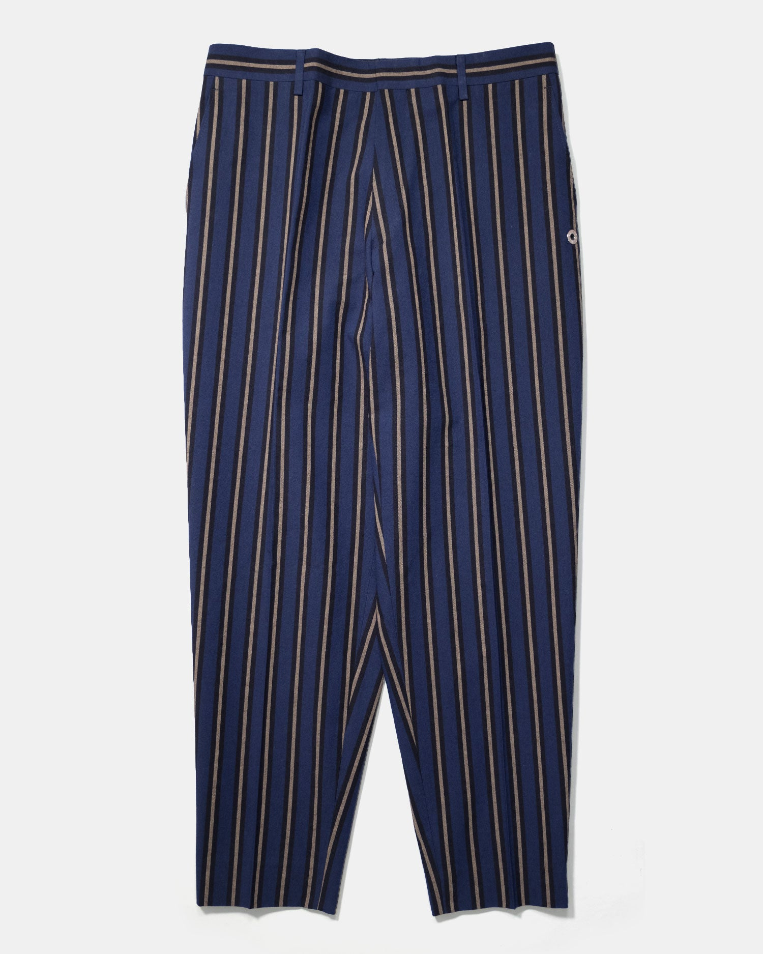 Études Revolte Trousers Navy Stripe