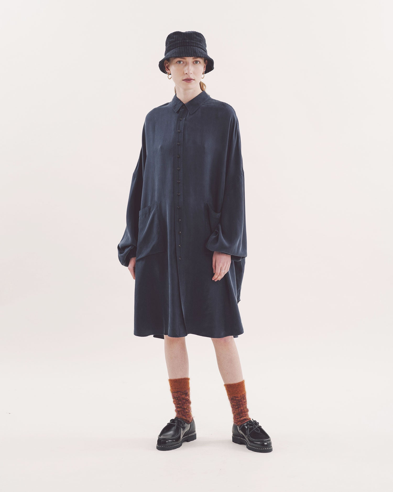 YMC Elton Silk Shirt Dress