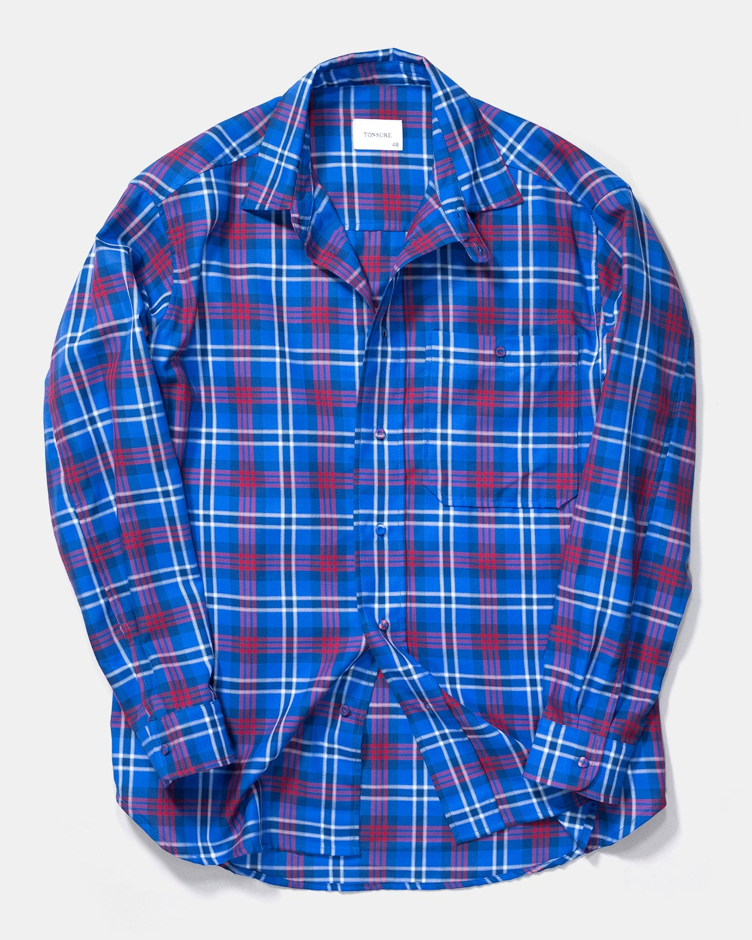 Tonsure Ron Oversized Check Shirt