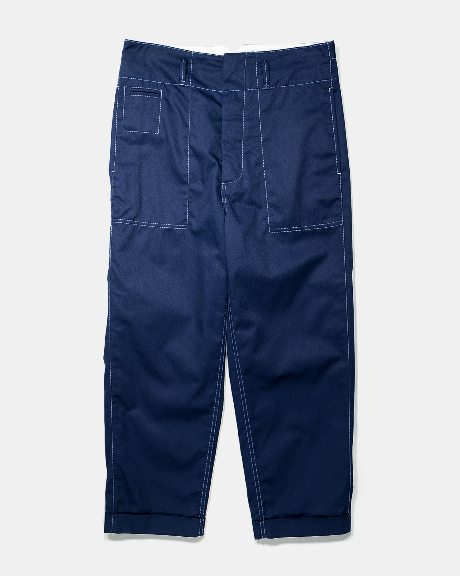 Marni Techno Gabardine Trousers Navy