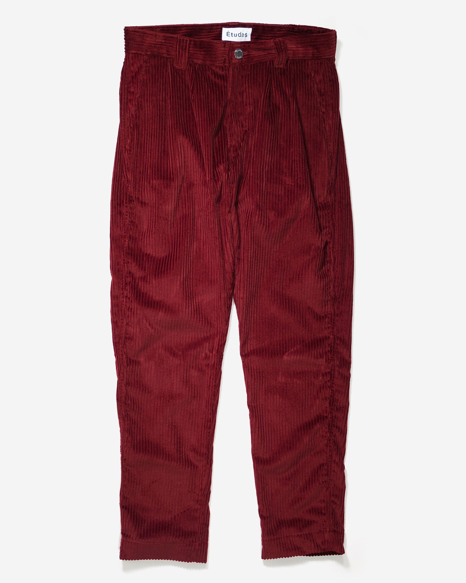 Études Cinema Corduroy Trousers Burgundy
