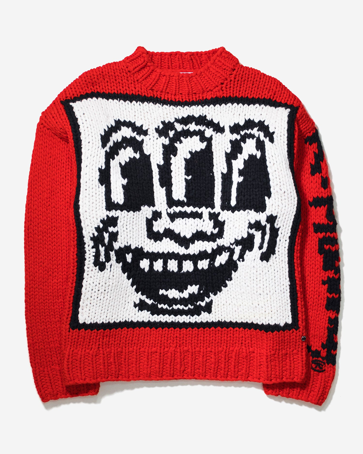 Études x Keith Haring Andy Knitted Sweater in Red Wool