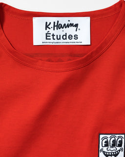 Études x Keith Haring Unity Patch Tee Red