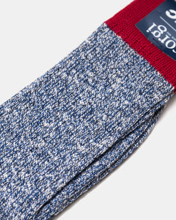 YMC x Corgi Slub Sock Red/Blue