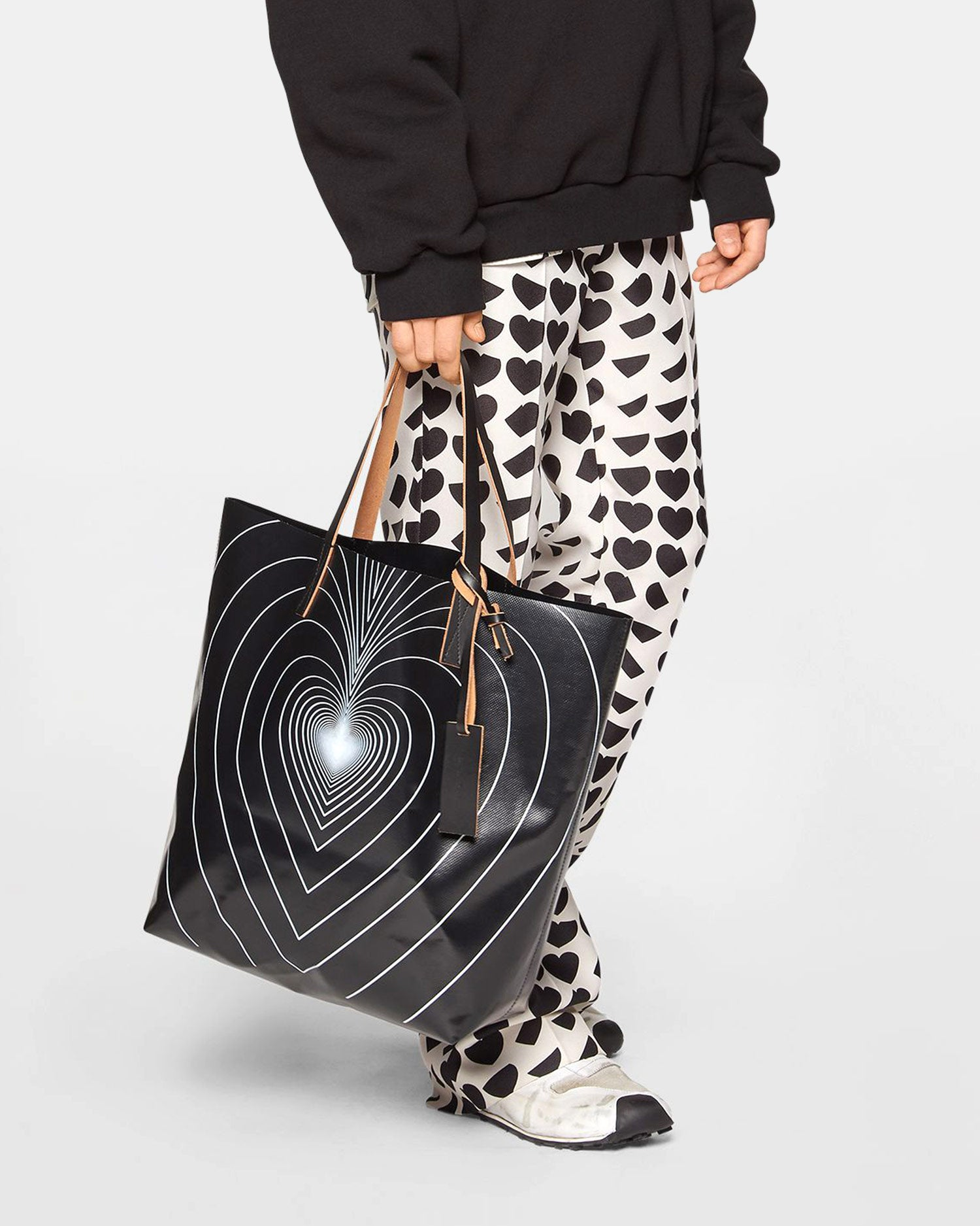 Marni North-South Infinity Heart Tote