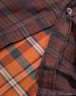 Our Legacy Borrowed Shirt Orange Check
