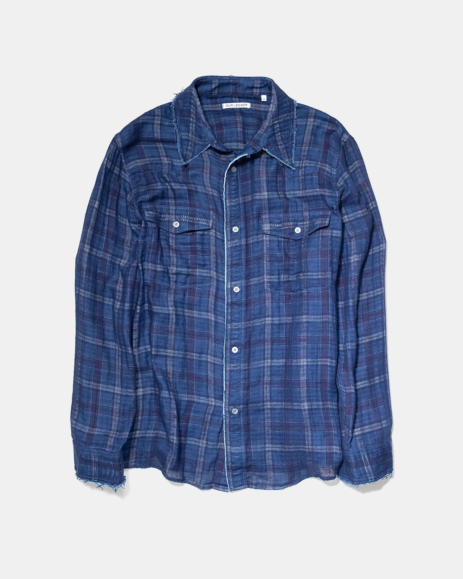 Our Legacy New Frontier Shirt Blue Check